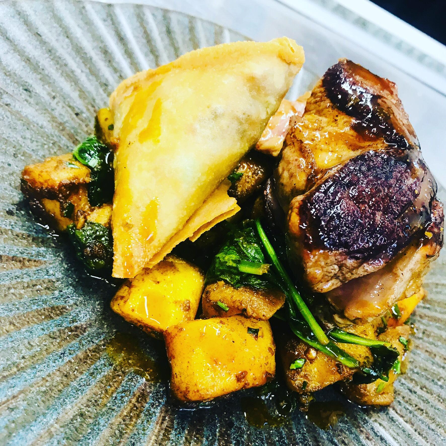 Roast on a plate
