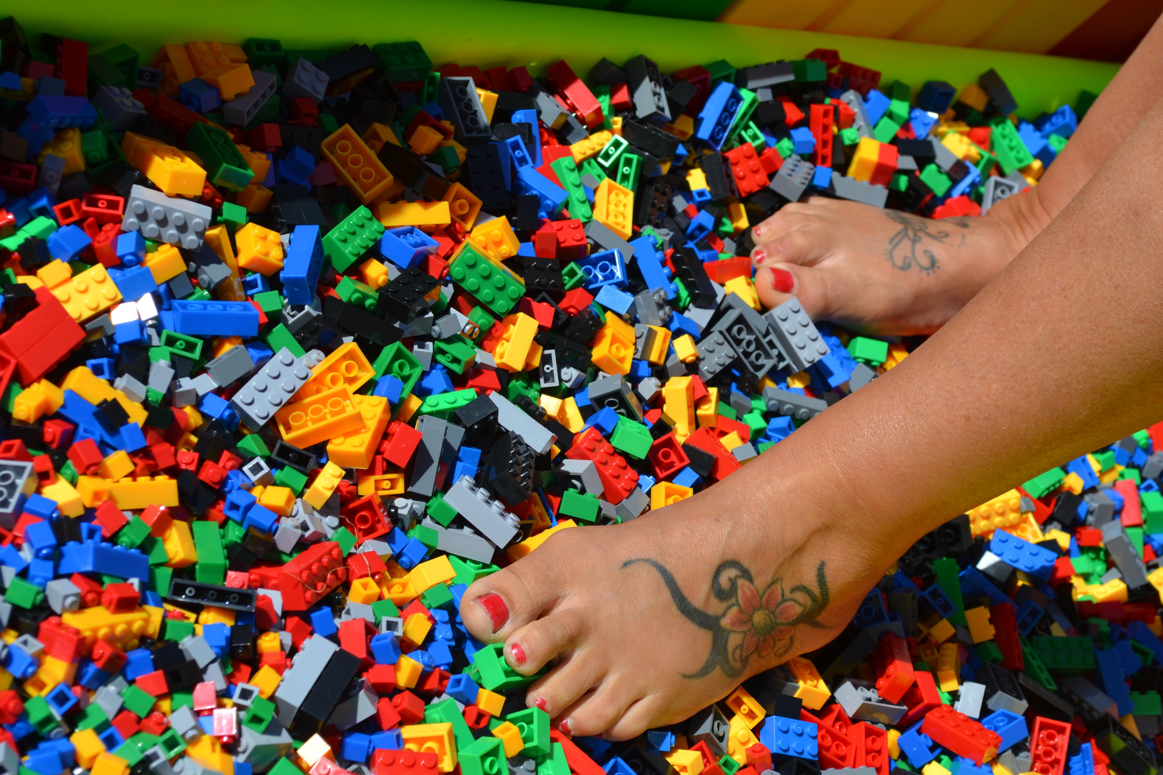 Feet on Lego