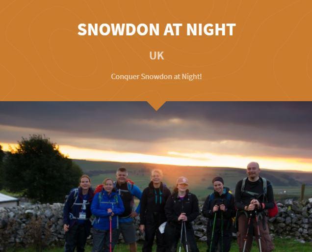 Snowdon at night